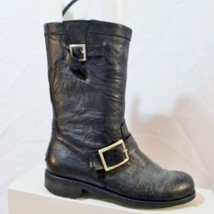 JIMMY CHOO YOUTH BIKER Leather Bootie BOOT